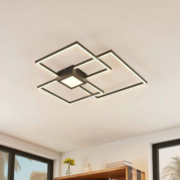 Lindby Duetto -LED-kattovalaisin antrasiitti, 38 W