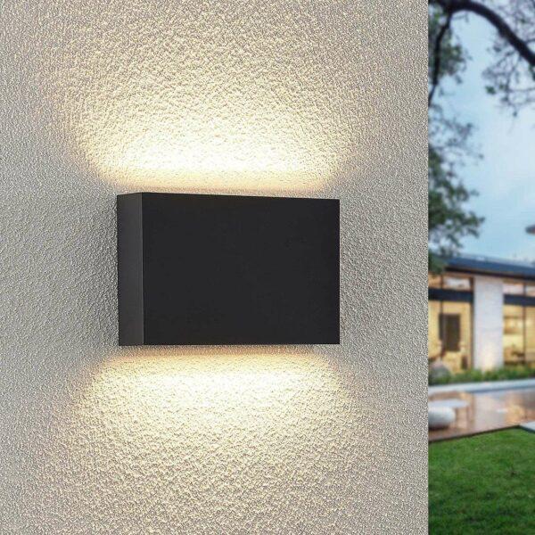 Lindby Jarte -LED-ulkoseinälamppu, 20 cm up/down