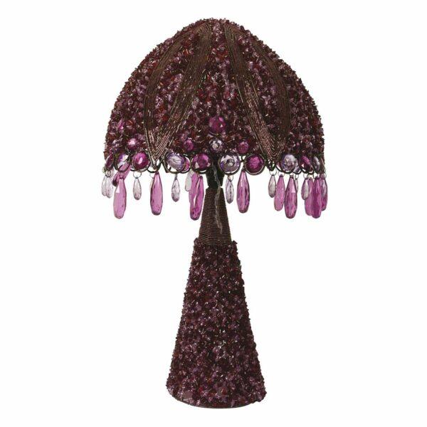 Perla-pöytävalaisin 53 cm, violetti