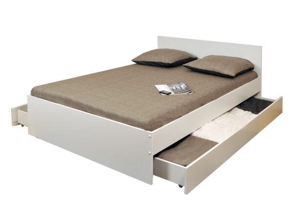 Sänky kahdella vuodevaatelaatikolla Oslo 160x200 cm
