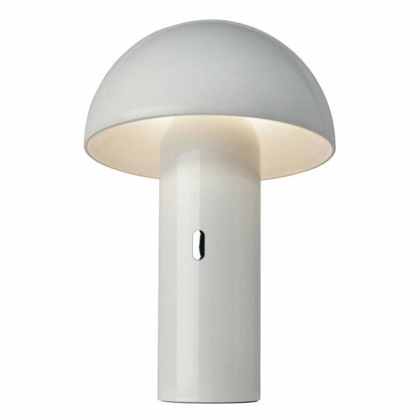 Svamp-LED-pöytälamppu, akku, valkoinen