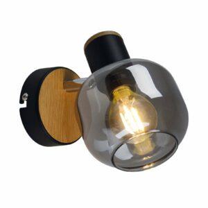 1350022-seinävalaisin savulasia, 1-lamppuinen