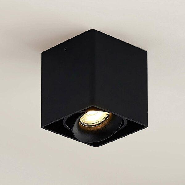 Arcchio Kubika -alasvalo, 1-lamp., musta