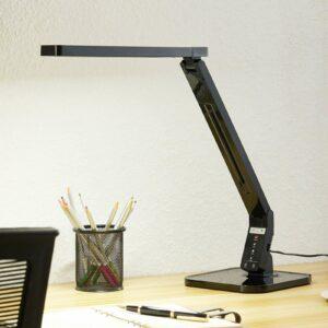 Arcchio Liano -LED-työpöytävalaisin, musta