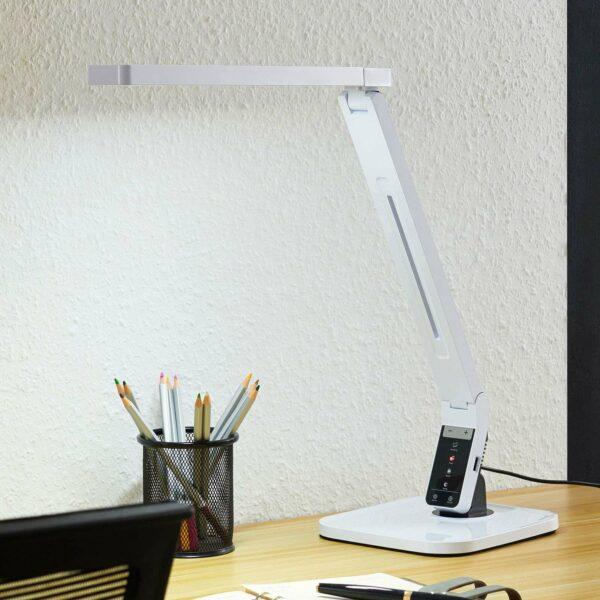 Arcchio Liano -LED-työpöytävalaisin, valkoinen
