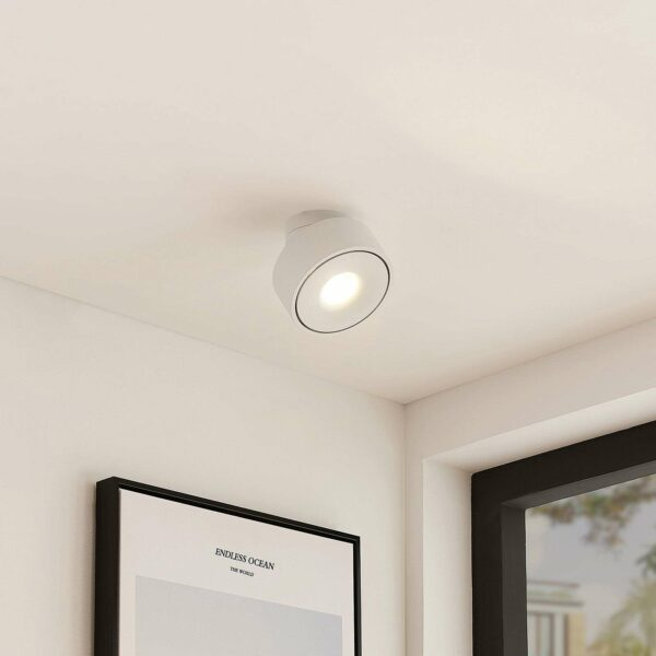 Arcchio Ranka -LED-kattovalo, valk., käänettävä