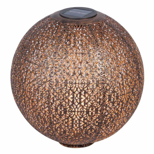 Aurinkokäyttöinen LED-lamppu Eddis pallo kupari