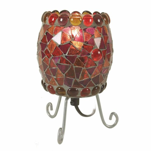 Enya-pöytälamppu, punainen lasimosaiikki