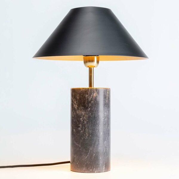 KARE Palazzina -pöytävalaisin, marmorijalka, musta