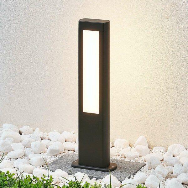 LED-pollarivalaisin Mhairi, tummanharmaa, 50 cm