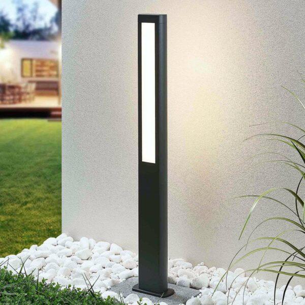 LED-pylväsvalaisin Mhairi, tummanharmaa, 100 cm