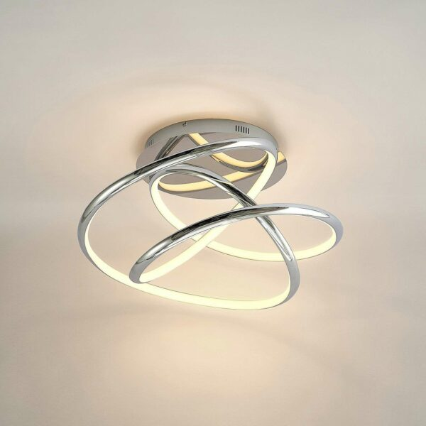 Lucande Fluxus -LED-kattovalo, 3-port. himmennys