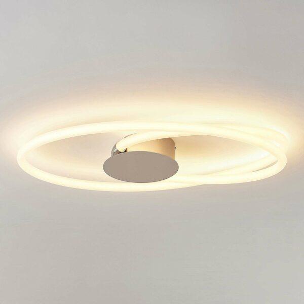 Lucande Ovala -LED-kattovalaisin, 72 cm