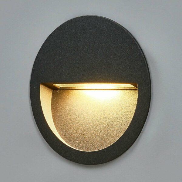 Pyöreä, upotettava LED-seinävalaisin Loya