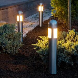 3 kpl:n setti LED-pollarivalaisin Amalfi maapiikki