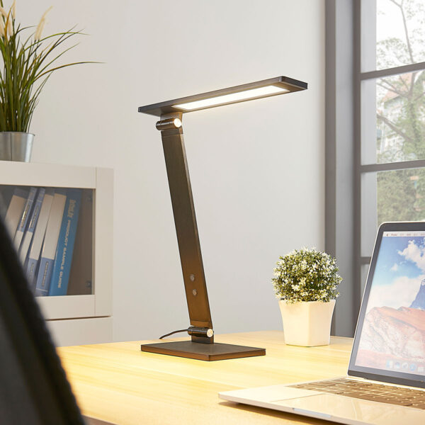 Salome – himmennettävä LED-työpöytälamppu, musta