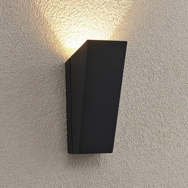 Lucande Maniela -LED-ulkoseinävalaisin, uplight