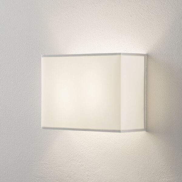 Lucande Patrik -seinävalo kulmikas 22 cm valkoinen
