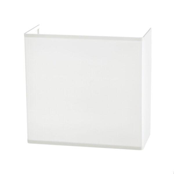 Lucande Patrik -seinävalo kulmikas 25 cm valkoinen