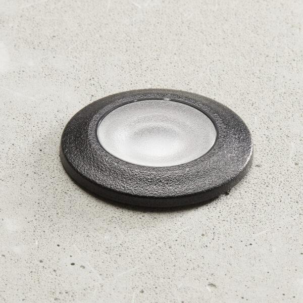 Aldo-LED-uppovalo, pyöreä, musta/kirkas 3 000 K
