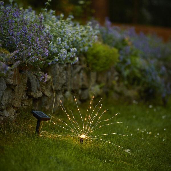 Firework-LED-maapiikkivalo, korkeus 23 cm