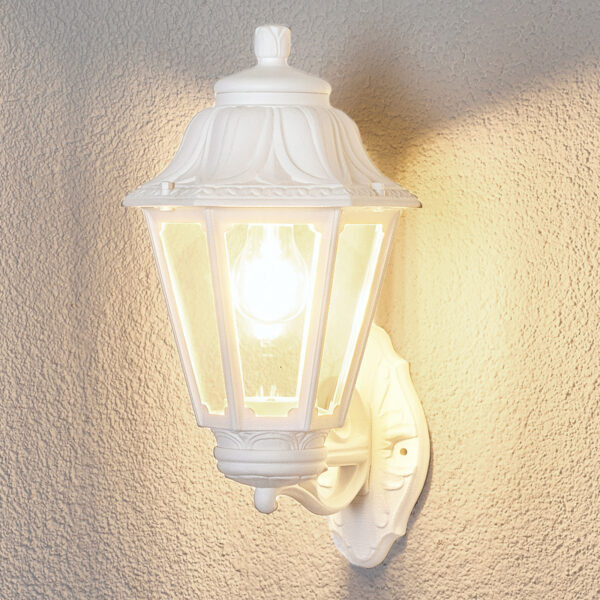 LED-ulkovalo Bisso Anna valkoinen ylösvalaiseva