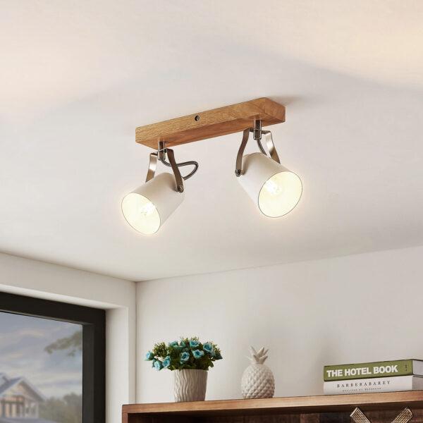 Lindby Blana -kattovalaisin, kaksilamppuinen