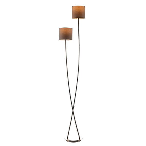 Lucande Juljana -lattiavalo, 2-lamp., kangas