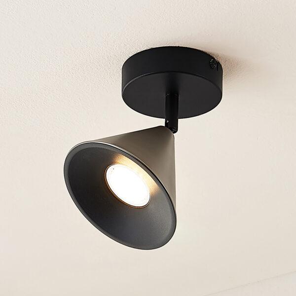 Lucande Kartio -seinälamppu, 1-lamppuinen, nikkeli