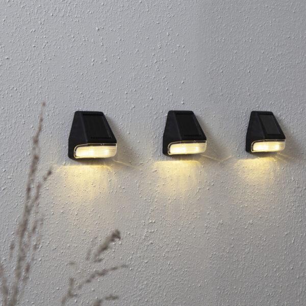 Wally Mini -LED-seinävalaisin, 3 kpl/pakkaus