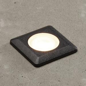 Aldo-LED-uppovalo, kulmikas, musta/kirkas 3 000 K