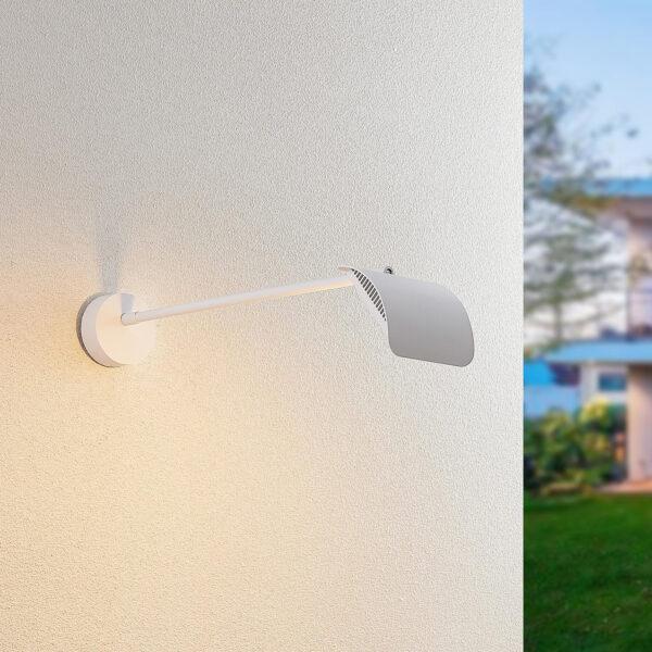 Arcchio Grayson -LED-ulkoseinälamppu, valkoinen