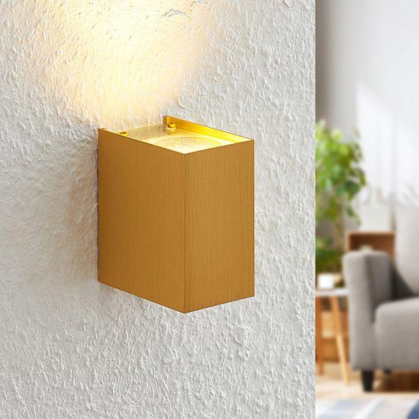 Arcchio Maruba -seinävalaisin, 1-lamppuinen kulta