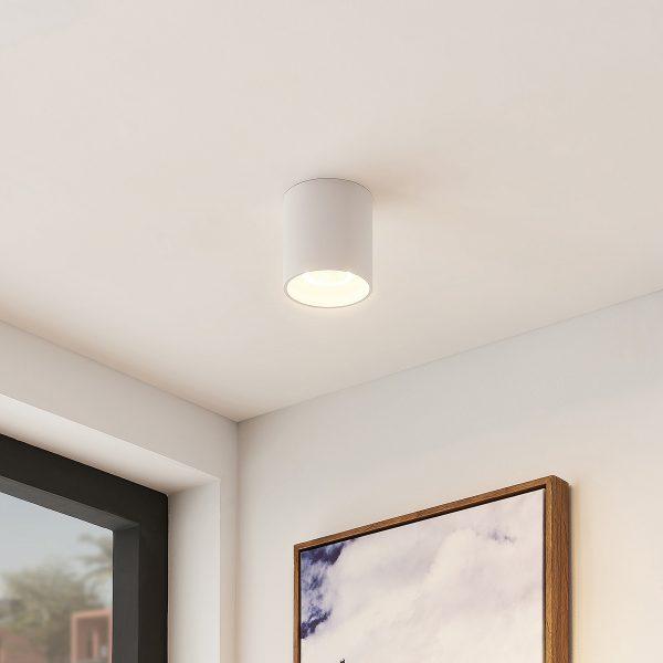 Arcchio Zaki -LED-kattovalaisin, pyöreä, valkoinen