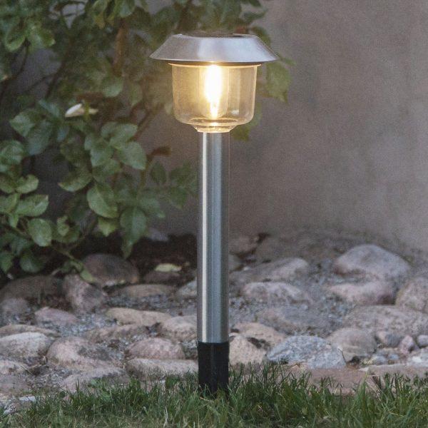 Aurinkokäyttöinen Fille-LED-maapiikkivalo, lyhty