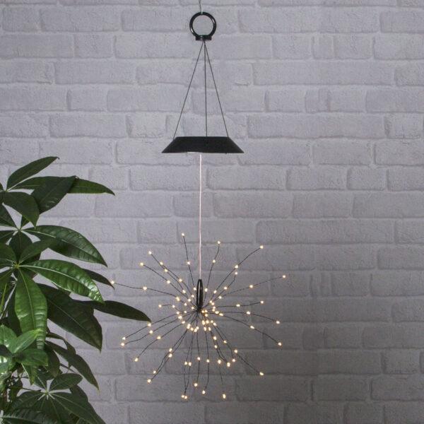 Aurinkokäyttöinen Firework-LED-riippuvalaisin