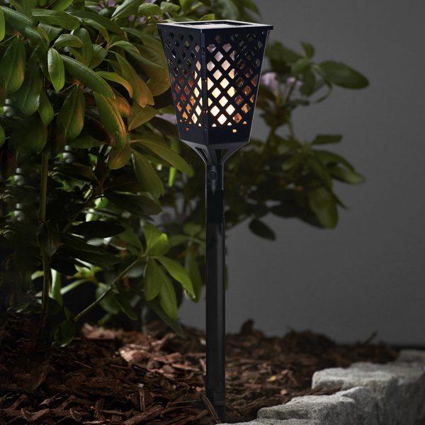 Aurinkokäyttöinen Flame-LED-lamppu, liekkitehoste