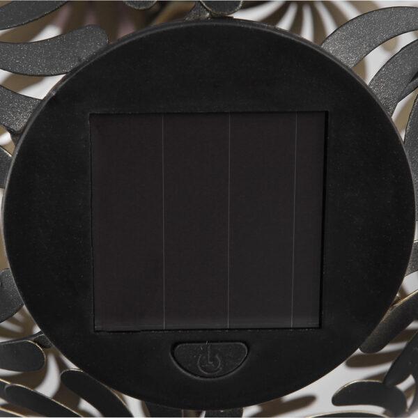 Aurinkokäyttöinen LED-lamppu 33632B, musta