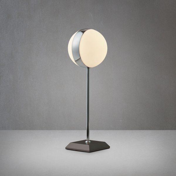 Circle-pöytälamppu, jalallinen, korkeus 37,5 cm