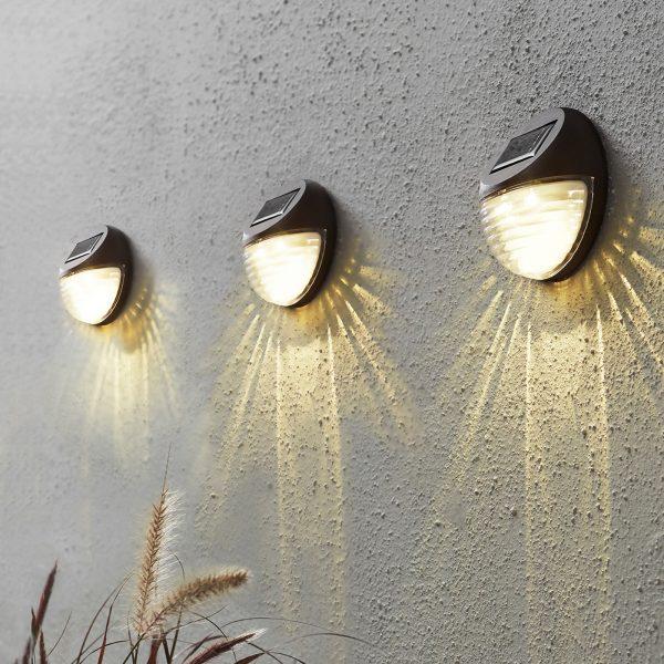 Fency-LED-aurinkosähkövalaisin, 3 kpl