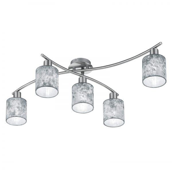 Garda - 5-lamppuinen kattovalaisin, hopea