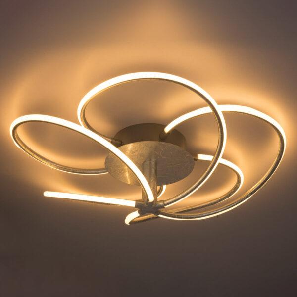 Hopeanvärinen LED-kattovalaisin Wave