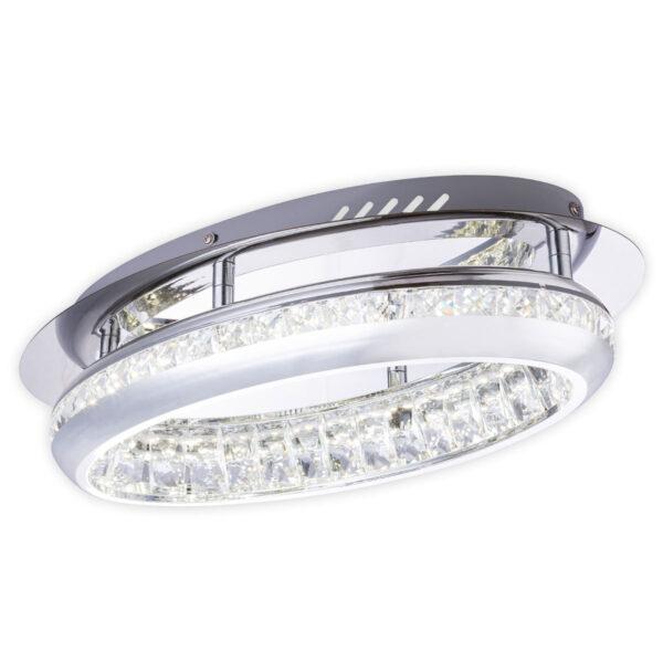 LED-kattovalaisin 67096-18 kristallein, kromi