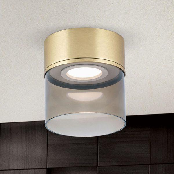 LED-kattovalaisin Francis mattamessinkiä Ø 15 cm