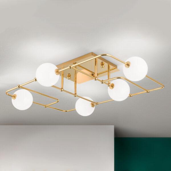 LED-kattovalaisin Pipes lasipalloilla