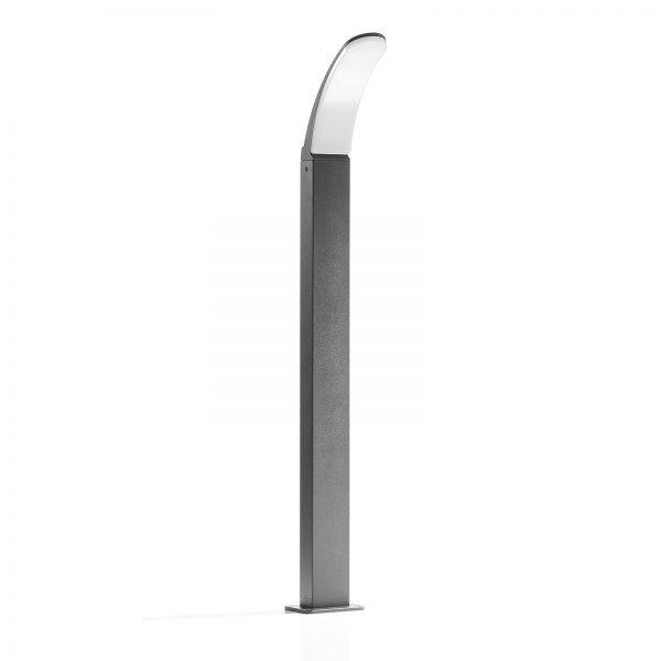 LED-pylväsvalaisin Fiumicino, taivutettu muoto
