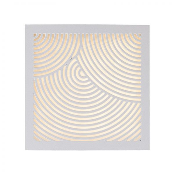 LED-ulkoseinävalaisin Maze Bended, valkoinen