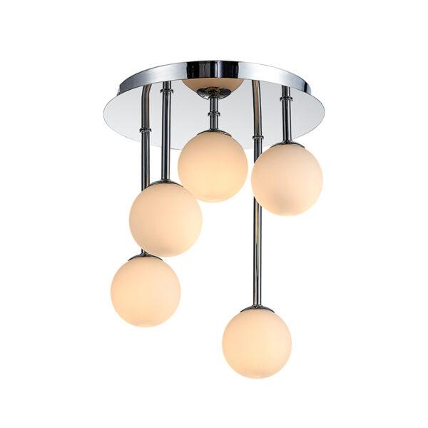 Lindby Chrissy -kattovalaisin, 5-lamppuinen, 25 cm