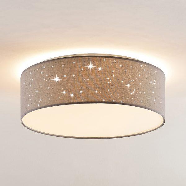 Lindby Ellamina -LED-kattovalo, 40 cm, vaalean
