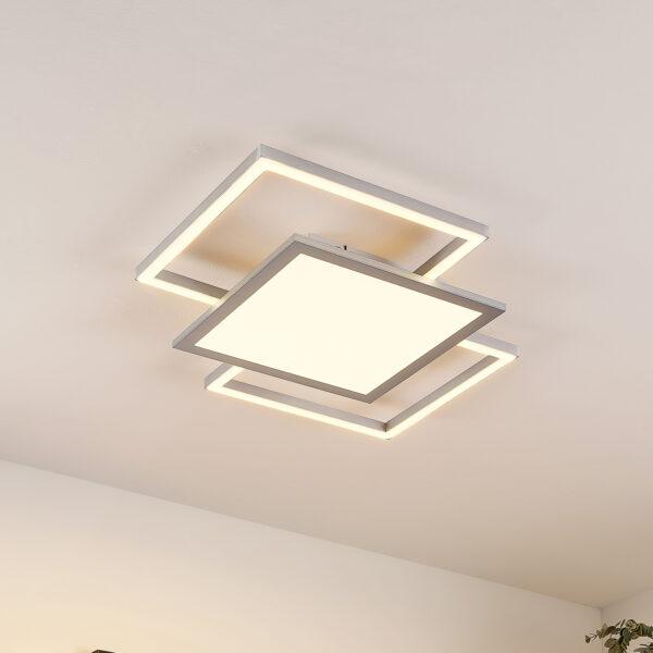 Lucande Ciaran -LED-kattovalaisin, neliömäinen